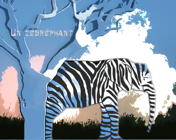 Un zébréphant zebrephant